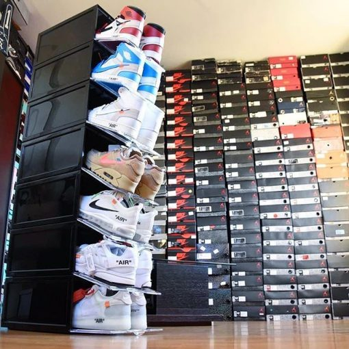 "Sneaker Head ""DROP FRONT"" Shoe Box i Sort"