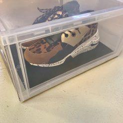 """10 stk Indlægsmåtte til Sneaker Head """"DROP FRONT"""" Shoe Box i Sort"""