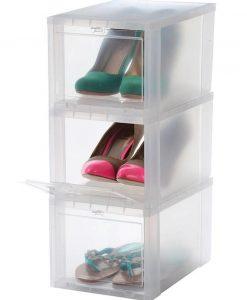 """Lady Sneaker Head """"DROP FRONT"""" Shoe Box"""