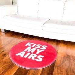 Kiss My Airs Sneaker Gulvmåtte i Orange Ø80 cm