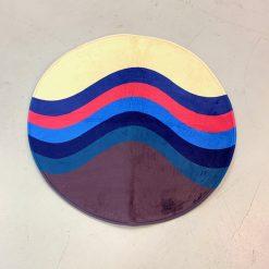 Wave Circle Sneaker Gulvmåtte i Mix Ø80 cm