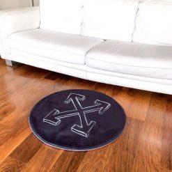 Black Logo Circle Sneaker Gulvmåtte i Sort Ø80 cm