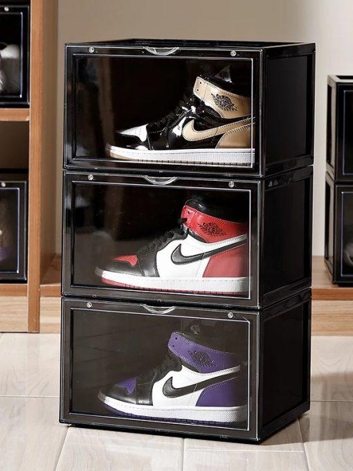 MAGNETIC Drop Side Sneaker Box i Sort