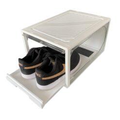 """1 stk Sneaker """"SLIDE DOOR"""" Shoe Box - Hvid & Hvid"""