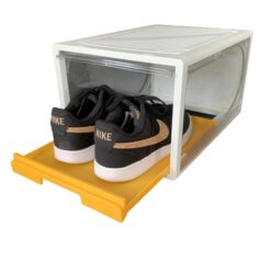 "1 stk Sneaker ""SLIDE DOOR"" Shoe Box - Hvid & Gul"